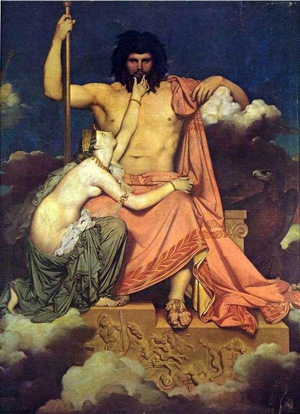 木星与Thetis   Jean Auguste Dominique Ingres