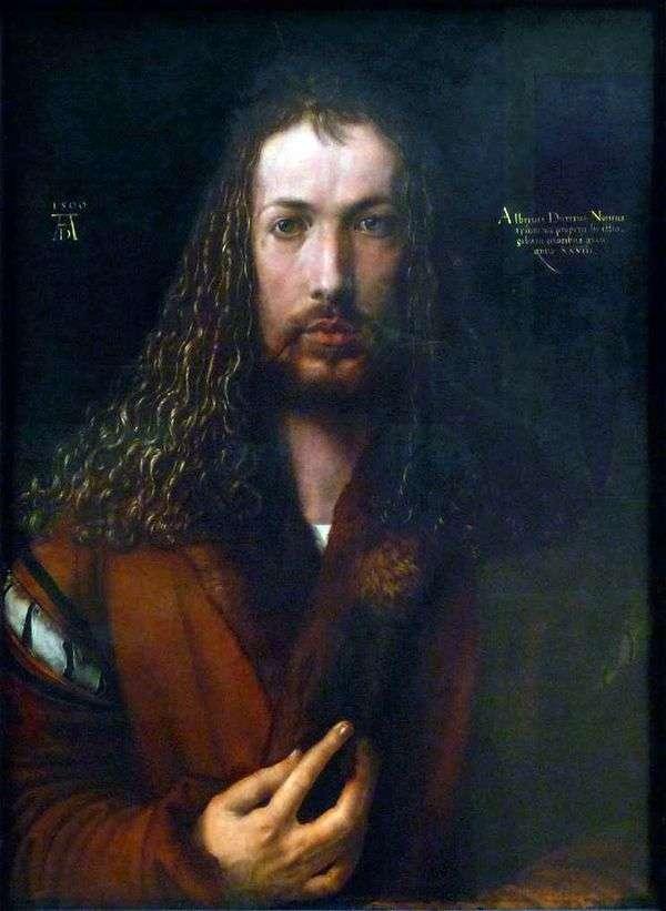 自画像(1500年)   Albrecht Durer