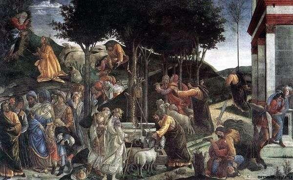 摩西(壁画)生活的场景   桑德罗波提切利