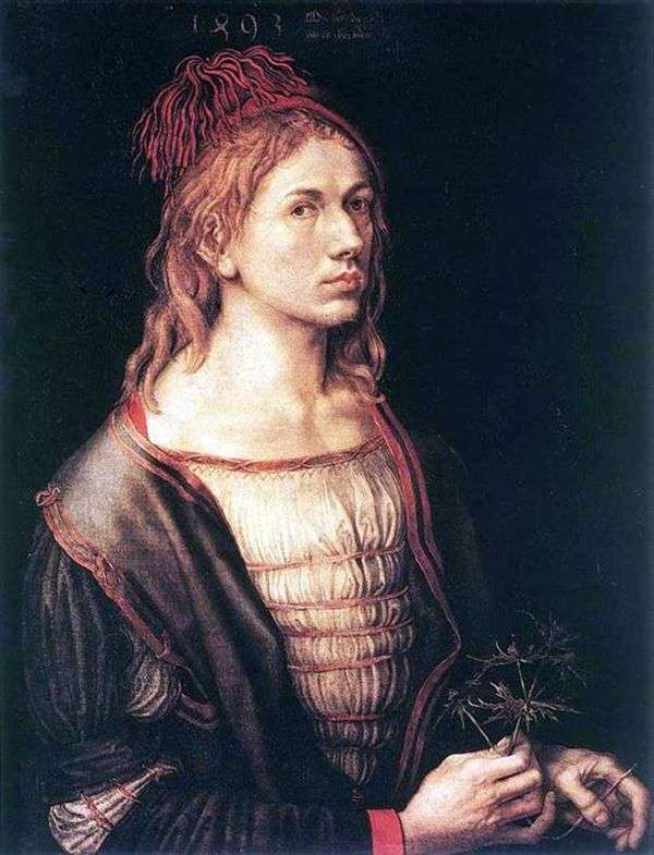1493年的自画像   Albrecht Durer