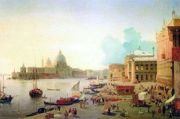 在威尼斯的degli Schiavoni的堤防   亚历山大Mordvinov