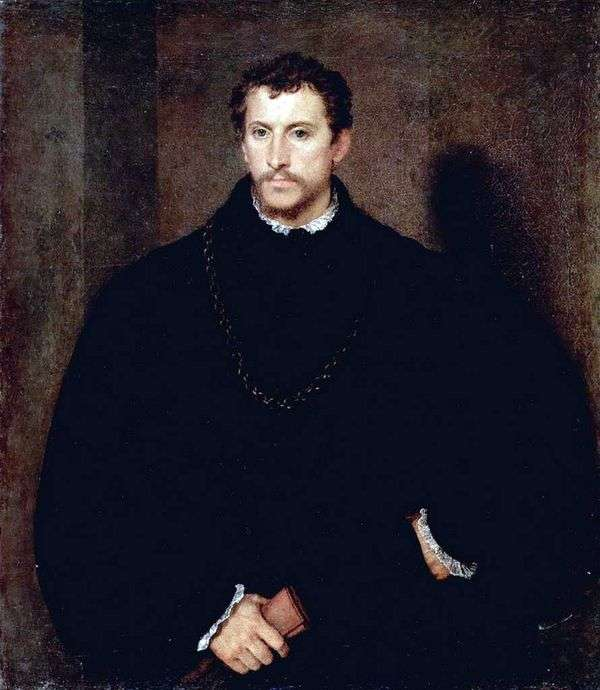一个年轻人的画象(Ippolito Riminaldi画象)   提香Vechelio