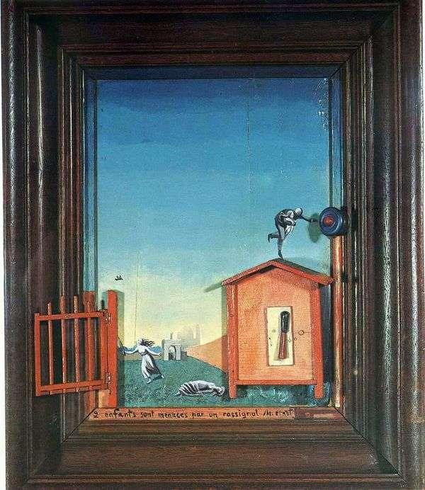 两个孩子和一个夜莺   Max Ernst