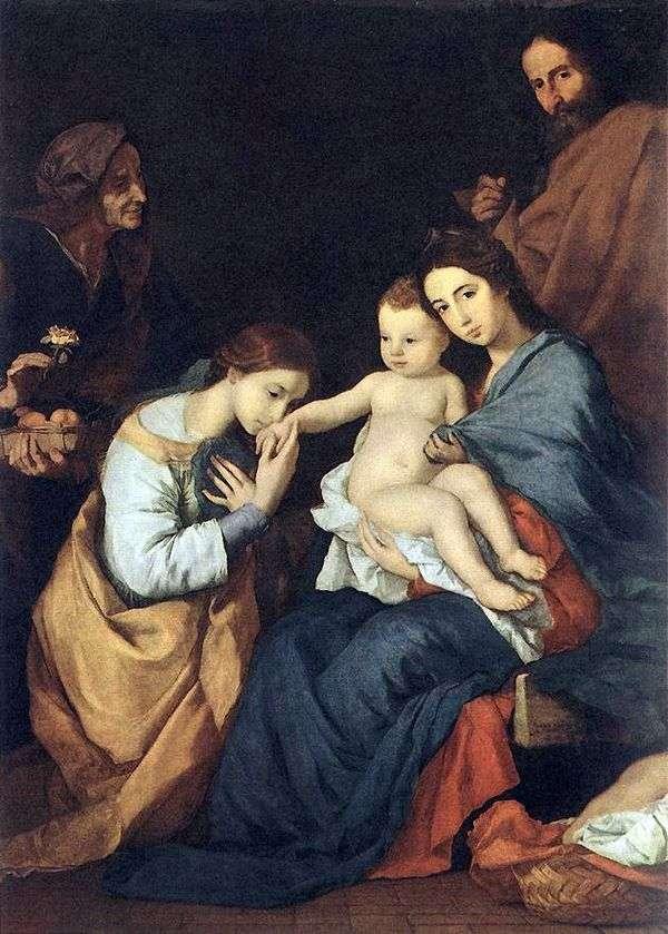神圣家族与圣凯瑟琳   Jusepe de Ribera