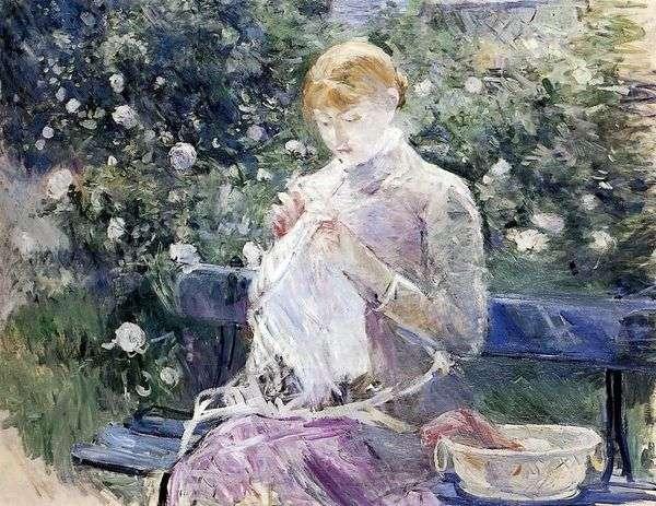 缝纫   Berthe Morisot