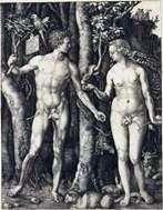 亚当和夏娃(合并)   阿尔布雷希特 杜勒