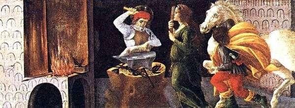 神圣的Eligiya的奇迹   Sandro Botticelli