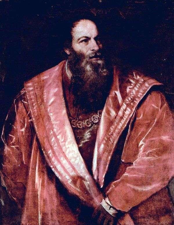 Pietro Aretino的肖像   提香Vecellio