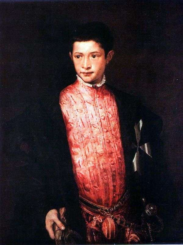 Ranuccio Farnese的肖像   提香Vecellio