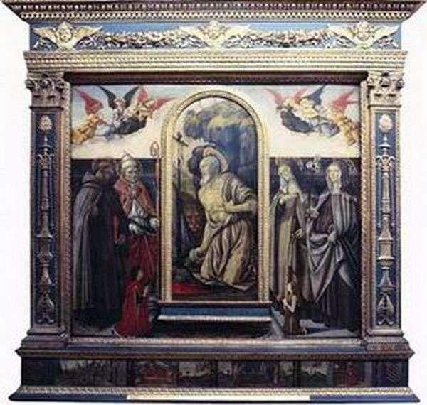 忏悔sv。杰罗姆与圣徒和捐赠者   弗朗切斯科博蒂奇尼