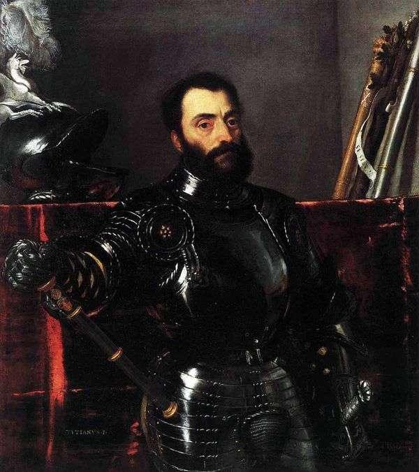 Urba Francesco Maria della Rovere公爵的肖像   提香Vecellio