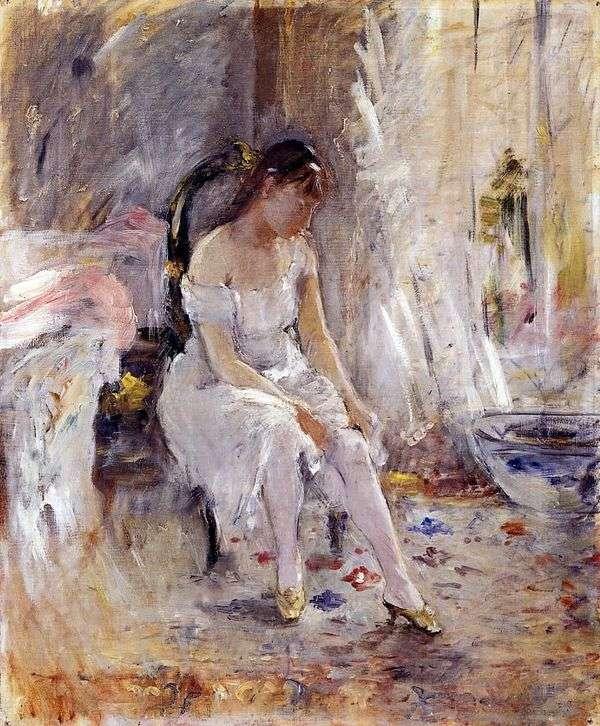 投入在长袜的女孩   Bertha Morisot