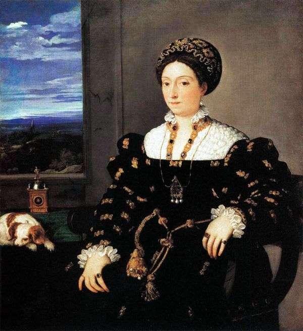 乌尔比诺公爵夫人Eleonora Gonzaga的画像   提香Vecellio