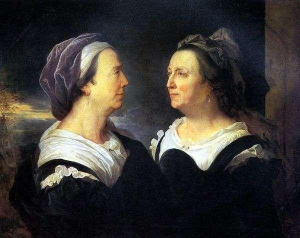 这位艺术家的母亲Rigo夫人用两幅肖像   风信子里戈