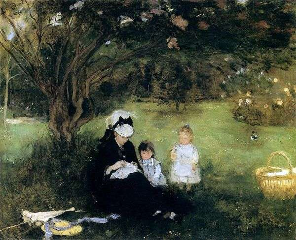 在Morekure的丁香   Bertha Morisot