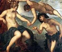 与Ariadne   Jacopo Tintoretto的Bacchus背叛
