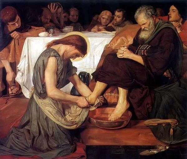 耶稣洗彼得的脚   福特马多森布朗