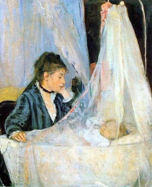 在摇篮   Berthe Morisot
