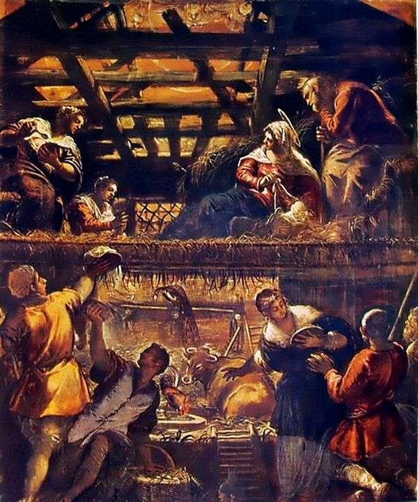对牧羊人的崇拜   Jacopo Tintoretto