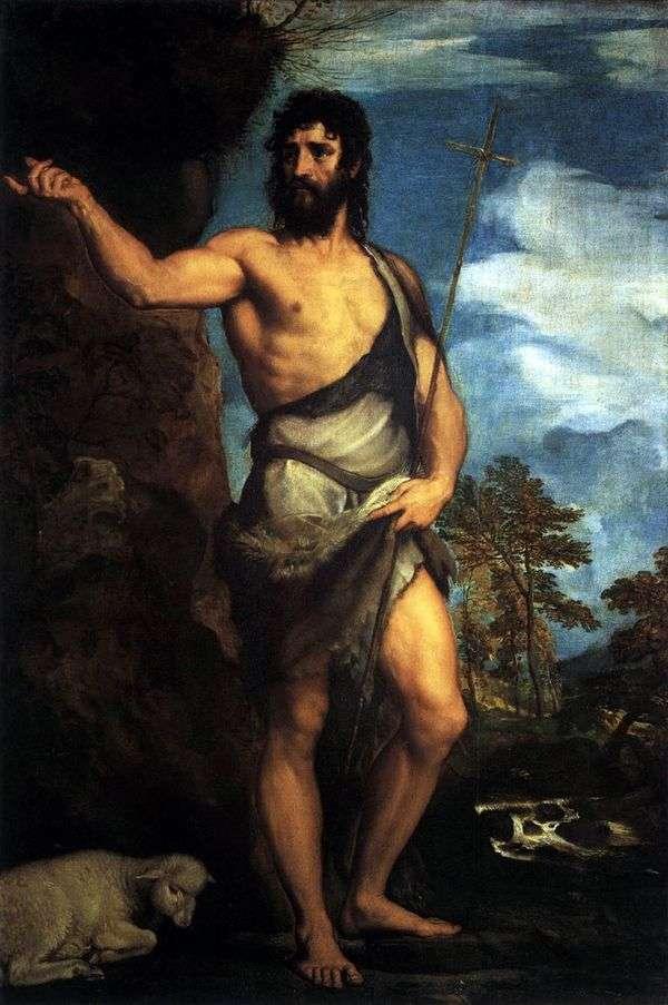 在荒野中的施洗约翰圣约翰   提香Vecellio