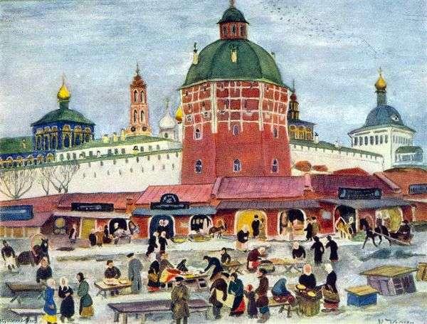 Trinity Sergius Lavra的Bazaar   Konstantin Yuon