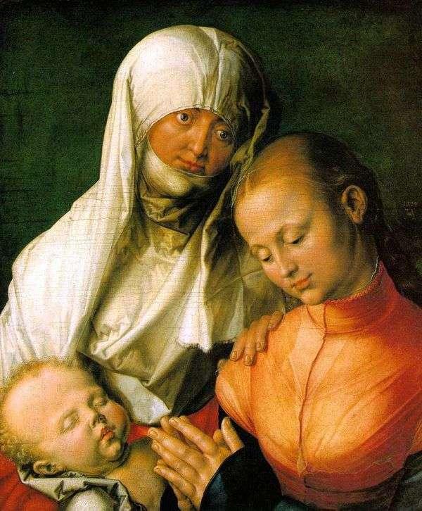 圣母玛利亚与婴儿和圣安妮   阿尔布雷希特Durer