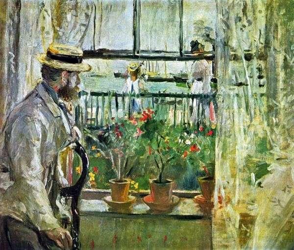 尤金芒在怀特岛   Berthe Morisot