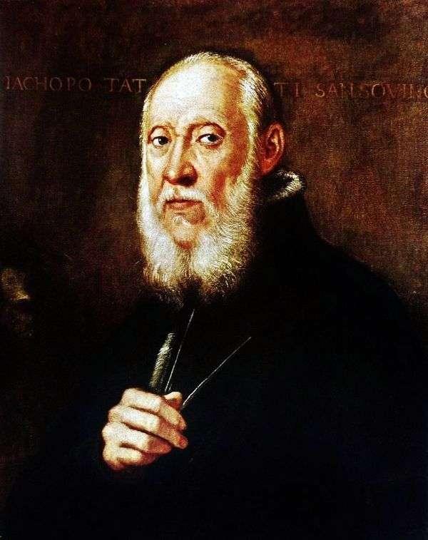 Jacopo Sansovino的肖像   Jacopo Tintoretto