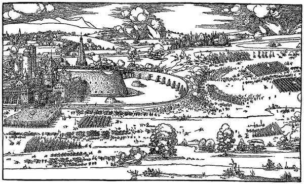 来自指南针和尺子测量指南的论文插图   AlbrechtDürer