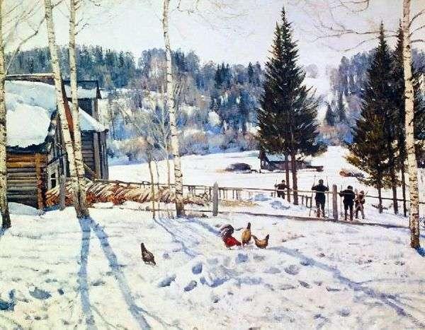 冬天结束。现在是中午。Ligachevo   Yuon Konstantin