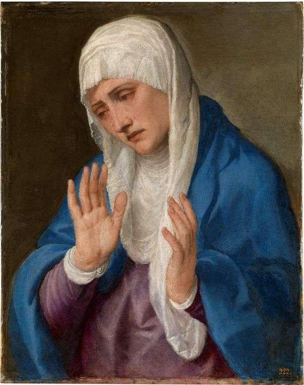 悲伤的母亲   提香Vecellio