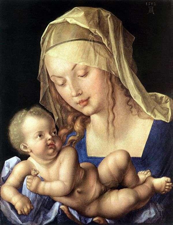 麦当娜和儿童与梨   阿尔布雷希特Durer