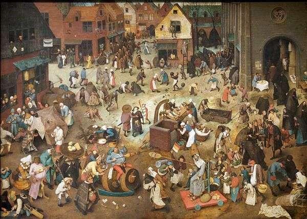 Maslenitsa和禁食之战   Pieter Bruegel