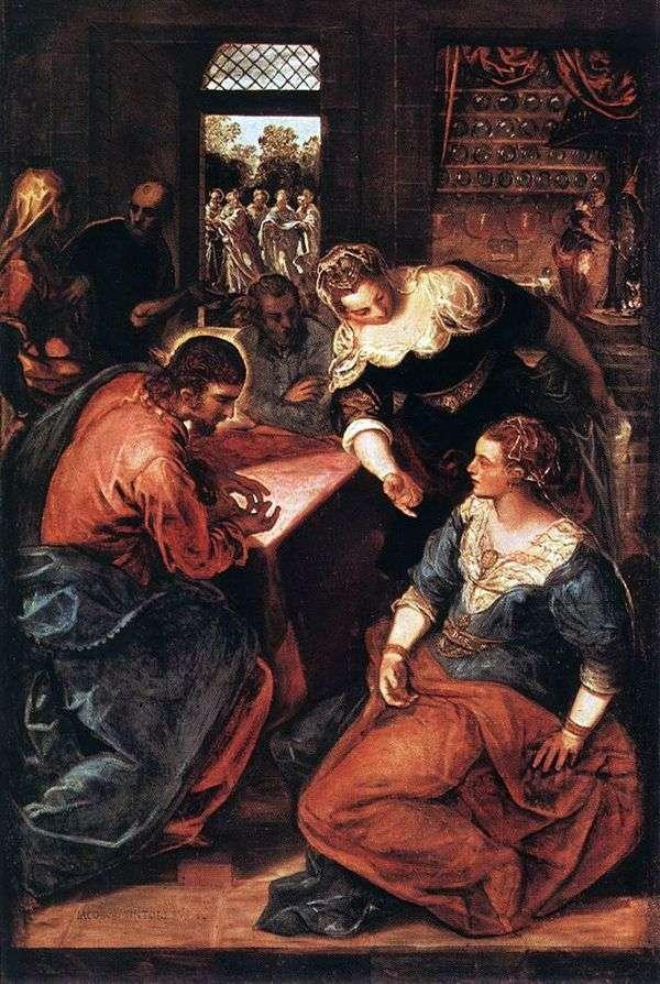 基督在玛莎和玛丽的家中   雅各布丁托列托