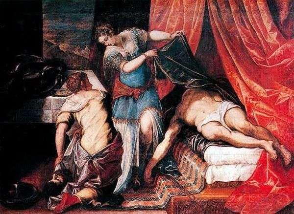 Judith和Holofernes   Jacopo Tintoretto