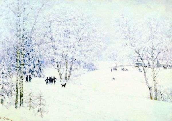 俄罗斯冬天。Ligachevo   Konstantin Yuon