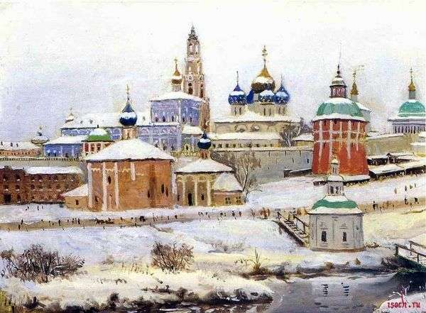 Trinity Sergius修道院在冬天   Konstantin Yuon