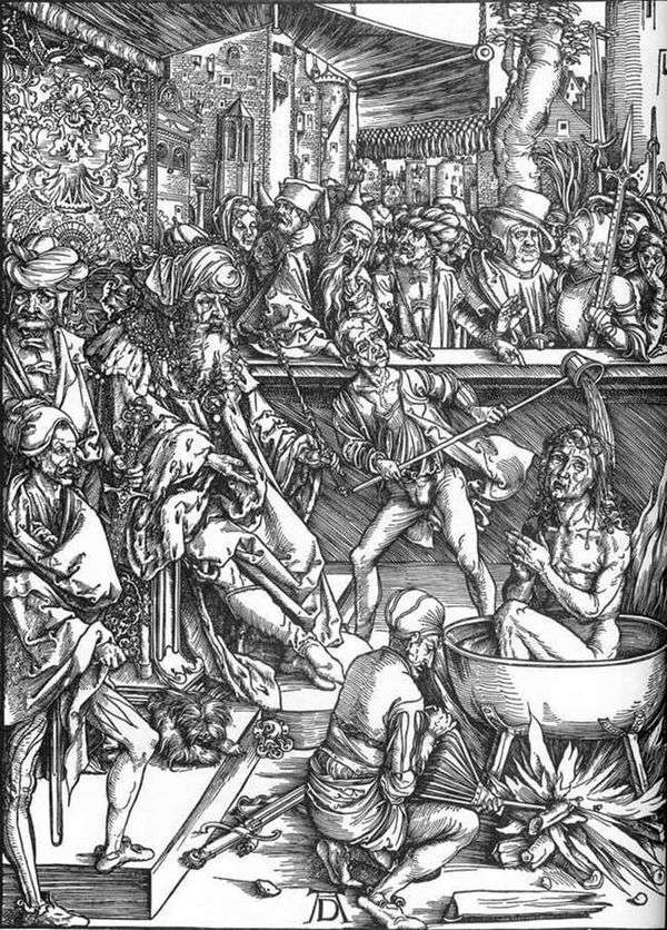 约翰神学家的殉道   阿尔布雷希特杜勒