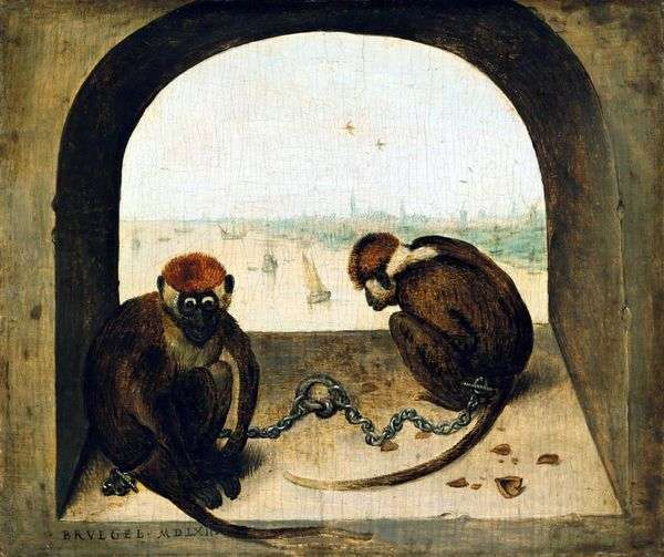 两只猴子   彼得布鲁盖尔
