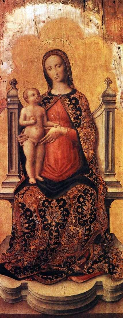 玛丽亚与宝座上的宝座   安东尼奥维瓦里尼