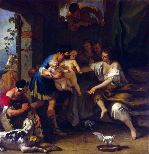 Romulus和Remus的婴儿期   Sebastiano Ricci