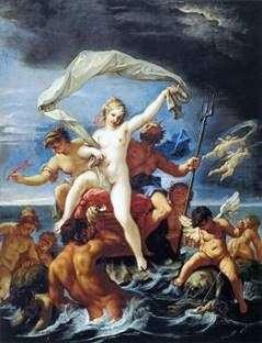 海王星和Amphitrite   Sebastiano Ricci