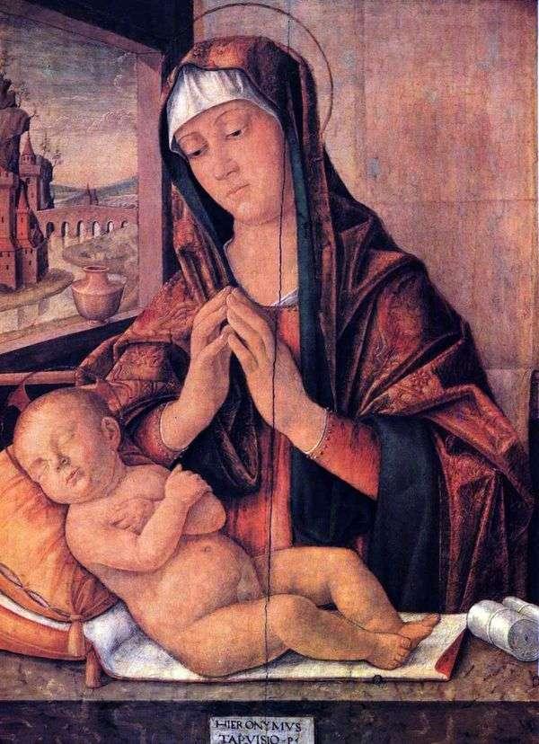 玛丽与一个熟睡的婴儿   吉罗拉莫达特雷维索