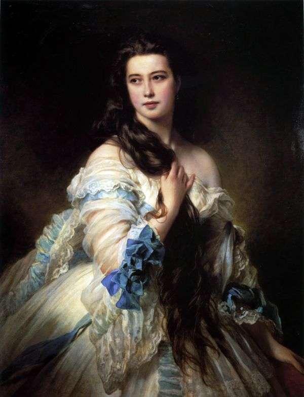 V. D. Rimskaya Korsakova的肖像   弗朗兹 泽维尔 温特哈尔特