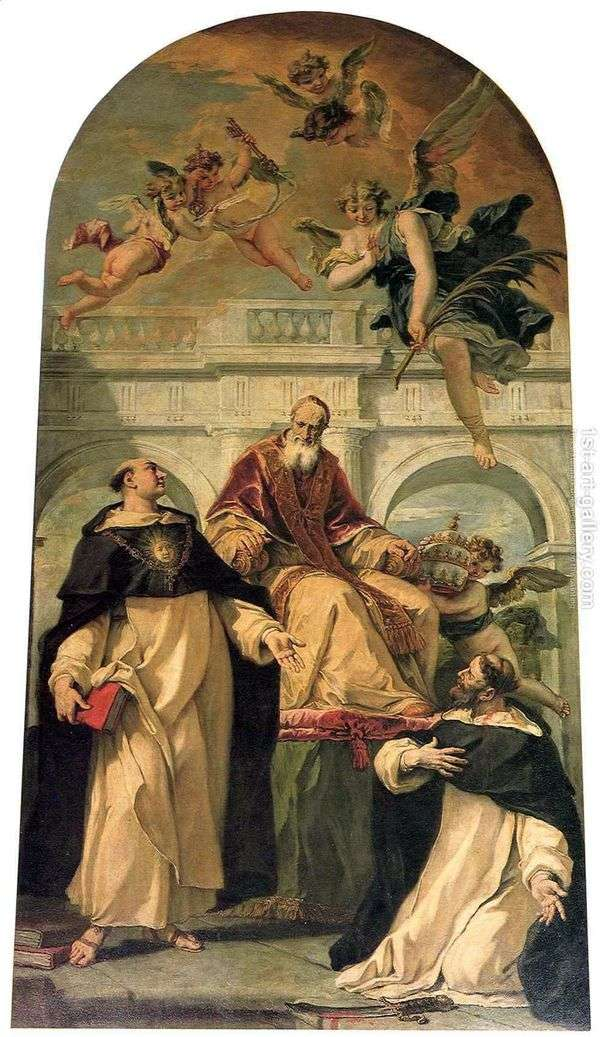 Pius V,Saints Peter和Thomas Aquinas   Sebastiano Ricci