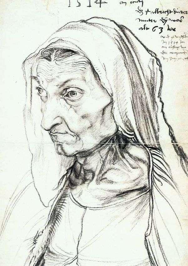 母亲的肖像   阿尔布雷希特杜勒