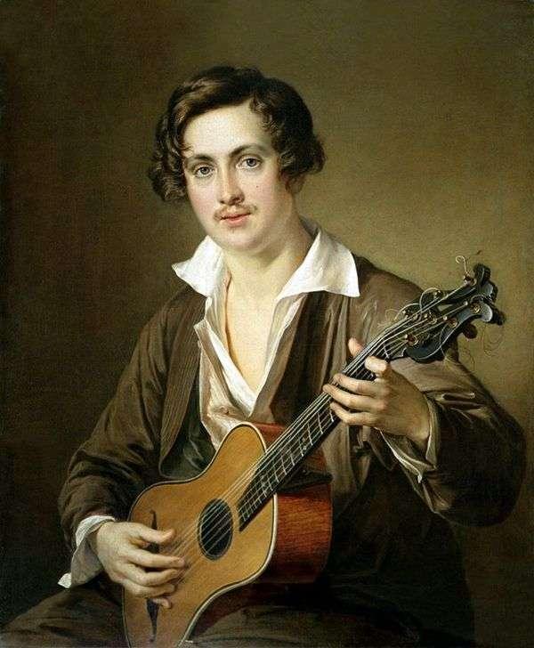 吉他弹奏者(Morkov画象)   瓦西里Tropinin