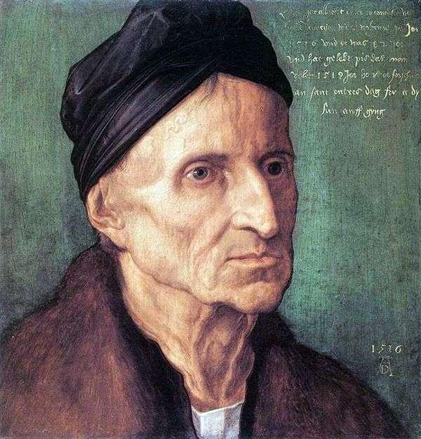 Michael Wolgemut的肖像   Albrecht Durer