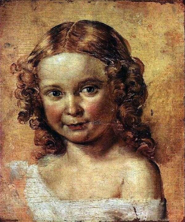 一个女孩的头(研究Ershova和女儿的肖像)   瓦西里Tropinin