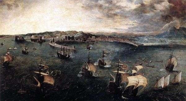 战舰在那不勒斯港   彼得Bruegel
